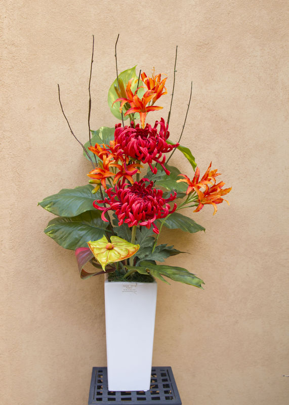Forever lasting flowers artificial flower arrangements melbourne red fujimums orange lillies mightylinksfo